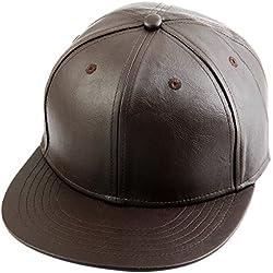 Shanxing - Gorra de béisbol - para hombre Style 2-Brown(PU) Talla única