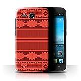 Stuff4® Hülle/Case für Huawei Ascend Y600/Aztek/Prinzessin Kleid Muster/Karikatur Polynesische Prinzessin Kollektion