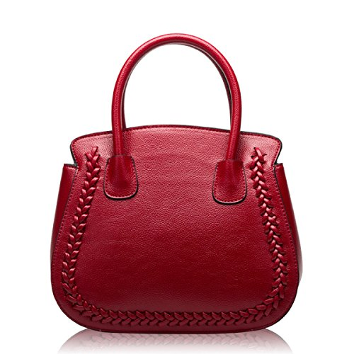 PACK Europa E La Moda Degli Stati Uniti Fashion Lychee Pattern Platinum Bag Spalla Portatile Diagonal Leather,D:Gray A:WineRed