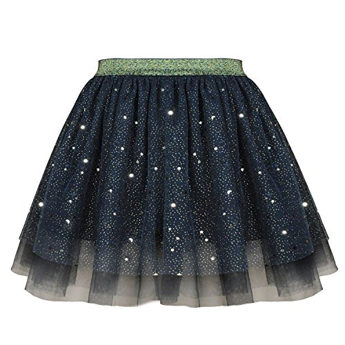 Mädchen Tutu Rock vier Layer Lace Cover Baumwolle Futter für Party Zeremonie Casual Party (Rock Baumwolle Lace)