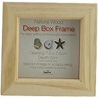 Box cornice di legno bianco cornice 15 x 15 cm, Legno, natur, 7,5 x 7,5 cm/ 3 x 3-pollici