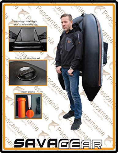 Savage Gear High Rider Belly Boat 170 – Bellyboat zum Angeln, Mini-Schlauchboot, Bellyboot, Belly Boot - 2