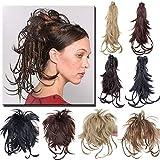 TESS Ponytail Extensions Pferdeschwanz Haarteil DIY Haarverlängerung Clip in Synthetik Haare für Zopf Haarteil Hair Extensions 12