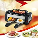 Inditradition 3 in 1 Electric Barbecue Grill, Fryer, Roaster, Perfect for Outdoor Camping & Picnic, Steel Built, Silver