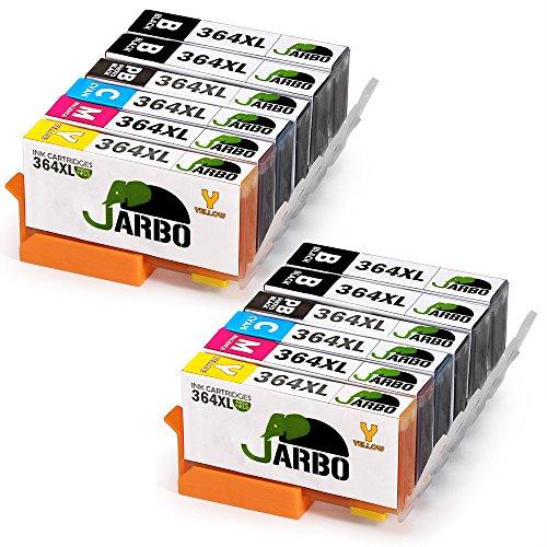 Jarbo 5 colori compatibile hp 364 xl cartucce d'inchiostro (4 nero,2 nero foto,2 ciano,2 magenta,2 giallo) compatibile con hp photosmart 5510 5511 5512 5514 5515 5520 5522 5524 6510 6520 6512 6515 7510 7520 7515 b8550 b8558 c5370 c5373 c5324 c6388 d5460 d5463 b110a b110c b010a b010b b111a b109a b109b c309a c309c b209a b210a hp deskjet 3070a