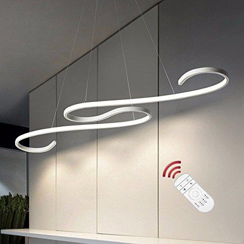 Lámpara LED de techo con luz ajustable y control de 42W marca ZZ Joakoah