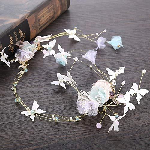Littlefairy Braut Haarschmuck,Bridal Schmetterling Kopfschmuck Haar Gürtel Schmuck Brautkleid...