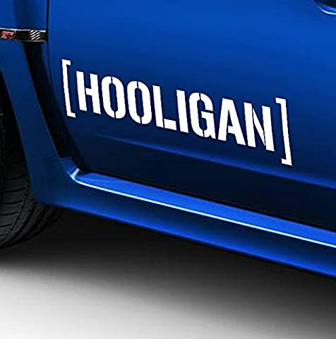 'Kronenburg Handel GmbH 2 x Hooligan Side Stripes 60 cm Car Sticker Tunig Decal and ESTREL Lina Mounting Squeegee 10/ESTREL Congratulation's Decal Sticker 10 Printed Instructions from Myrockshirt, Shipping from Germany Within 48 Hours, A Sturdy Cardboard Car Washes Professional Quality Sticker, Tuning,