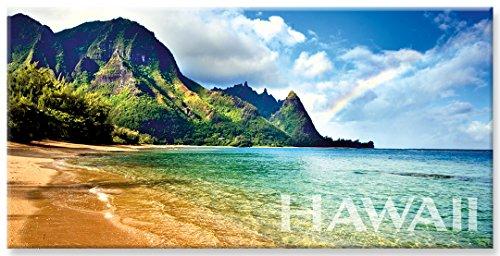 Hawaii Kühlschrank (Panorama Kühlschrank Magnet mit hawaiianischem Motiv - Rainbow Bali Hai by Monica & Michael Sweet)