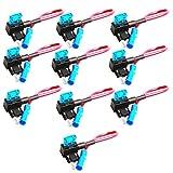 Mintice™ 10 X 12V 24V Auto LKW Mini Flachsicherungsadapter Sicherungshalter für Spannungsabgriff KFZ Flachsicherungen Autosicherungs
