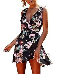 Vestidos Mujer Playa Fiesta Vestido Vestido Sin Mangas De La Playa De Las Mujeres De La