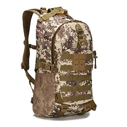 Z&N Backpack Armee Fans das Militär taktisch Tarnung zu Fuß Schultertasche Outdoor-Freizeit-Taschen Camping Rucksack Rucksack wandert wasserdicht Rucksack E