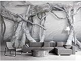 Yosot 3d Benutzerdefinierte Größe Foto Hintergrund Wand Papier Big Tree Roots Stamm Kreuz Kunst Wandverkleidung Schlafzimmer Wandbild Modern Tapete-400Cmx280Cm