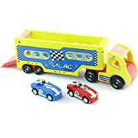 Vilac 2336 Articulated Lorry with 2 Friction Cars, Multi-Color