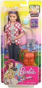Barbie Vamos de viaje, muñeca con accesorios (Mattel FWV17)