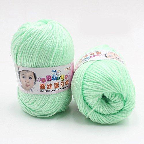 Kicode Neuer heißen Verkauf reiner Multi Color Kammgarn Weich glatte Warm Naturseide Wolle Cashmere Fibe Baby Skein Stricken Wolle Garn -