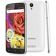 "Doogee X6 Pro- Smartphone libre 4G LTE (Pantalla 5.5"", Android 5.1, Quad Core 1.0GHz, 16GB ROM, 2GB RAM, Wifi, OTA), Blanco"