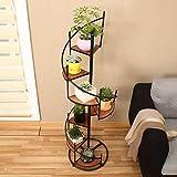 Lxlc Blumentopfständer aus Holz mehrschichtiger Bodenständer/Balkon Wohnzimmer Treppeneckrahmen - in verschiedenen Größen erhältlich (Farbe : SCHWARZ)