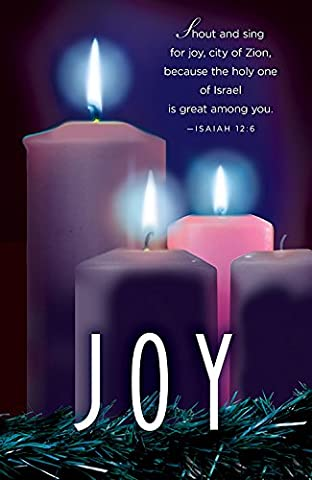 Joy Advent Candle Sunday 3 Bulletin, Pkg of 50: Package of 50