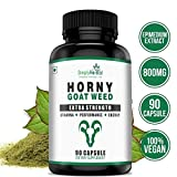 Simply Herbal Horny Goat Weed Extract With Maca - 800 Mg Veg Capsules