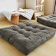 Simple and Comfortable Square Floor Velvet Tuffed Cushion