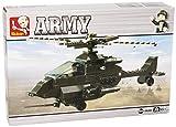Lego Sluban Apache Helicopter 158 Pieces Building Blocks Compatible