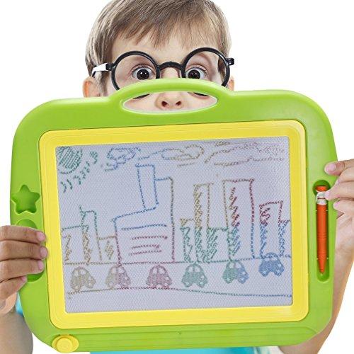 Zaubertafel, GreensKon Zaubertafeln Magnettafel Löschbar Spielzeug Kinderspielzeug Magische Zeichentafel Maltafel mit Magnetische Stempel Lerntafel Reißbrett Kindergeschenk für Kinder (Aus Löschen)