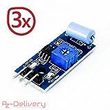 AZDelivery ⭐⭐⭐⭐⭐ 3 x SW420 Vibration Schüttel Erschütterung Sensor Modul für Arduino