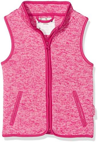 Playshoes Mädchen Strickfleece Kontrastnhten, Oeko-tex Standard 100 Weste, Rosa (Pink 18), 80 - Standard-shell