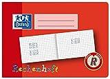 OXFORD 100050106 Rechenheft Schule 10er Pack A5 quer 16 Blatt Lineatur R (1. Klasse) rot