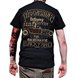 ROAD RODEO T-Shirt Back Print, Rock'n'Roll, Pick up, Schnaps, Moonshine
