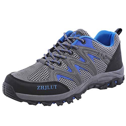 POLPqeD Scarpe da Trekking Uomo Donna Arrampicata Sportive All'aperto Escursionismo Sneakers Blu Arancione Verde 36-44