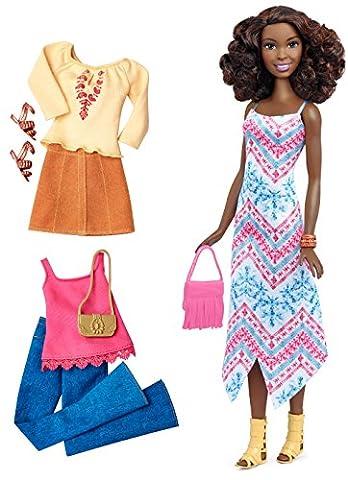 Mattel Barbie DTF08 Barbie Fashionistas Style Puppe und Moden mit