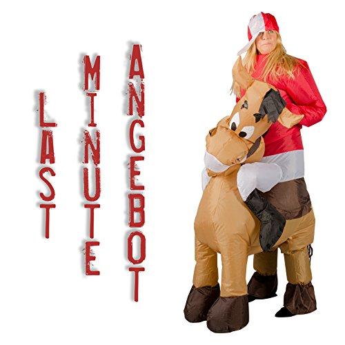 Ambientehome aufblasbares Kostüm Pferd Reiter Karneval Kostüm Fasching ()
