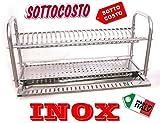 IDOR STORE SCOLAPIATTI COLAPIATTI BASE O APPOGGIO IN ACCIAIO INOX DA 60 CON RACCOGLIGOCCE