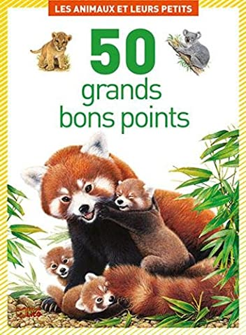 Boîte de 50 grands bons points: Les animaux et leurs petits - Dès 5 ans