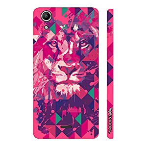 Micromax Canvas Selfie 2 Q340 Lion Art Pink designer mobile hard shell case by Enthopia
