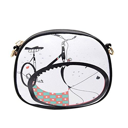 KOROWA Sacchetti di spalla di estate delle donne con i sacchetti del messaggero di spruzzatura bicicletta