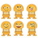 KayMay Smiley Printemps Printemps Secouant La Poupée, Décoration D'intérieur De Voiture Ornements Creative Décoration De Voiture, Expression Emoji Jouets Mignon Auto Décoration De Voiture 3 PCS