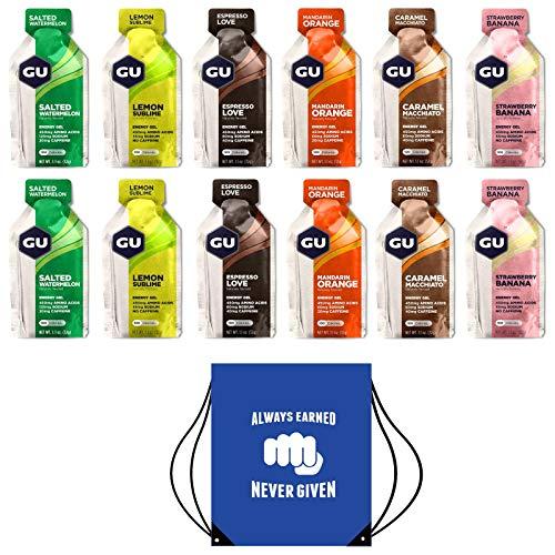 GU Energy Gels - Paquete 12 Geles Sabores Mixtos -