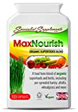 Max Nourish Capsules SuperFoods: Natural Herbal MultiVitamin (100 VegiCaps) - 100% Organic