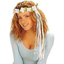 NET TOYS Coroncina per capelli con fiori di colore rosa copricapo in stile  hippie a713f06afae1