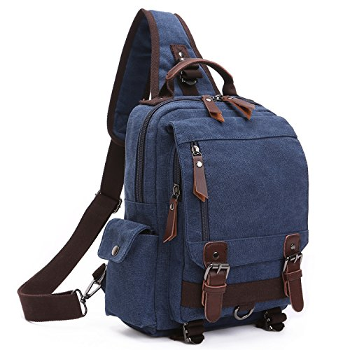 BAOSHA XB-14 Multifunktions Sling Rucksack Canvas Sling Pack Bag Segeltuch Fahrradrucksäcke Schulterrucksack Umhängetasche -