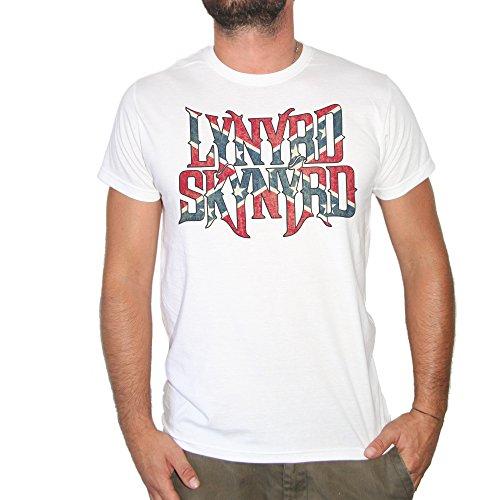T-Shirt LYNYRD SKYNYRD–by Brain Factory XL weiß (Skynyrd Damen Lynyrd T-shirt)