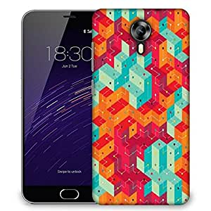 Snoogg Cool colourful lines Designer Protective Back Case Cover For Meizu M2