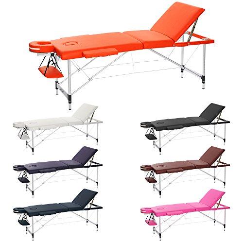 Preisvergleich Produktbild h-root 3 Abschnitt Ultralight tragbar Massageliege Schlafcouch Sockel,  Therapie Tatoo Salon Reiki Healing Schwedische Massage 12, 75 kg (186cm x 60cm x 59-80cm,  Orange)