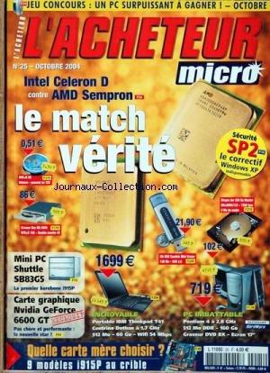 ACHETEUR MICRO (L') [No 25] du 01/10/2004