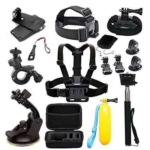 Navitech 18 in 1 Action Kamera Zubehör Combo Kit mit EVA Case für die AEE 360 Proview Cam (Cam-combo)