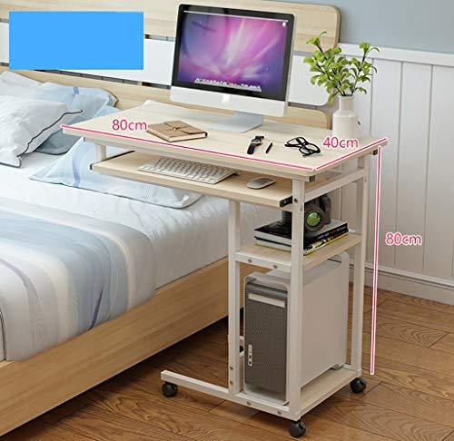 Computertische Anhebbarer abnehmbarer Nachttisch nach Hause Laptop Schreibtisch Schlafzimmer Lazy Table Bett Schreibtisch einfachen kleinen Tisch Computerschränke ( Farbe : B , größe : 80x40x80cm )