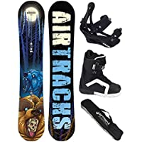 AIRTRACKS SNOWBOARD SET - TABLA MIDNIGHT ROCKER 157 - FIJACIONES SAVAGE - BOTAS STAR 44 - SB BOLSA/ NUEVO